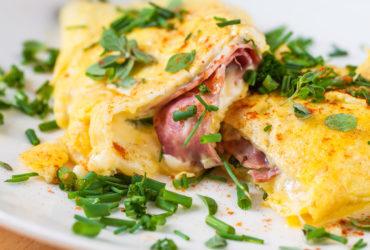 White Mediterranean Omelette